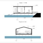 Вид в разрезе дом на воде